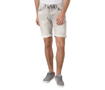 Jeans-Shorts, Slim Fit, Umschlag-Saum