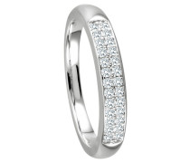 Ring 5 mit  Diamanten zus. ca. 025 ct.