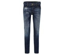 "Jeans ""Tepphar""lim Fit, Used-Optik, Knopfleistetretch-Anteil"