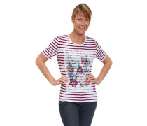 T-Shirt Streifen Spitze floral Mustermix