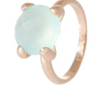 Damenring, Bronze, Chalcedon, hell, rosévergoldet, WSBZ00013.LB