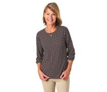Shirt 3/4-Arm Allover-Muster Schlüssellochausschnitt