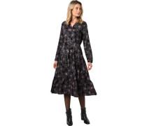 Midi-Kleid, Volant, floral gemustert,