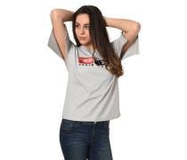 """T-Shirt """"Jacky-D"""" Logo-Stickerei geschlitzter Saum geschlitzter Ärmel"""