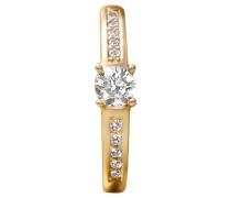 Damenring mit Diamanten  585, zus. ca. 0,5 ct.