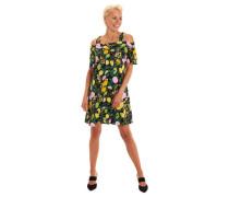Freizeitkleid Peekaboo-Ärmel Baumwolle florales Muster