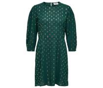 Kleid mit Print, dunkel, 42
