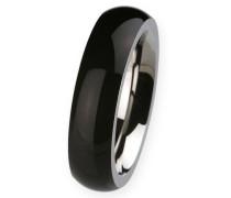 EDvita Ring, Edelstahl, Keramik R274