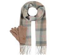 Schal & Handschuhe, Set, Fransen