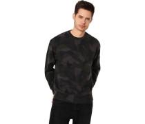 Sweatshirt, Camouflage, Rundhalsogo,