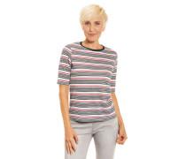 T-Shirt Halbarm Querstreifen Kontrastfarben