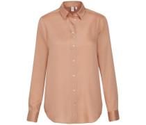 Hemdbluse Langarm Uni Rosa/Pink