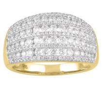 Ring Gelb 5 mit Diamanten zus. ca. 10 ct