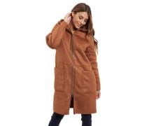 Mantel, Kapuze, Reißverschluss, uni