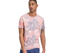 T-Shirt reine Baumwolle Blätter-Print