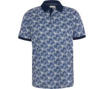 Poloshirt, Allover-Print, Kurzarm,