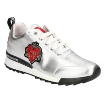 Sneakeretallic-Look, Herz-Details, Strass