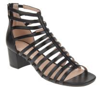 Schaft-Sandaletten, schmale Riemchen, seitlicher Gummizug, Reißverschluss, attraktiv,