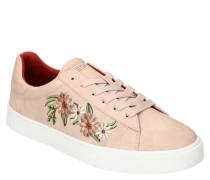 Sneaker Blumen-Stickerei gepolstert profilierte Sohle
