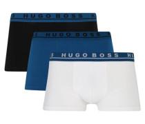 Pants 3er-Pack elastischer Logobund unifarben
