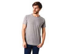 "T-Shirt ""STRIPE BOURN OUT"" Streifen Melange offene Kanten"