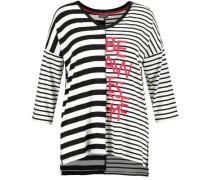T-Shirt, Streifenangarm, Rundhals,