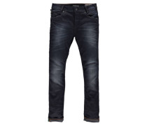 "Jeans ""Russo"", Tapered Shelter Denim dark used"