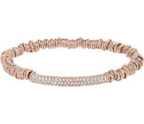 Stretch-Armband mit Kristallen rosévergoldet