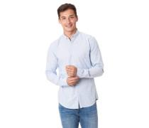 Freizeithemd Langarm meliert Button-Down-Kragen