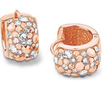 Creolen mit Swarovski-Kristallen rosévergoldet