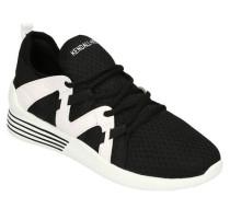 Sneaker Mesh Elastik-Einsätze Zugschlaufe zweifarbig
