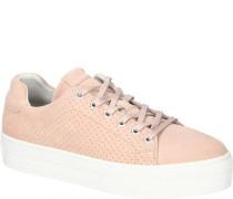 Sneaker, Plateau-Sohle, unifarben,