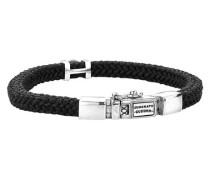 "Armband ""Denise Cord"" geflochten Silberschließe"
