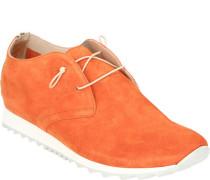 Sneaker, Veloursleder, elastische Schnürung,