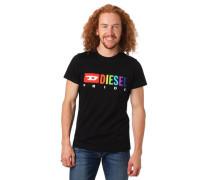 T-Shirt Logo-Print Bauwolle