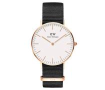Classic Cornwall Armbanduhr 36mm RG White DW00100259