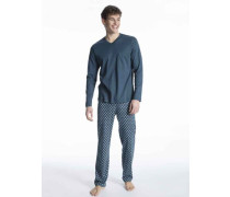 Damen, Pyjama lang Relax Streamline