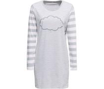 Nachthemd, geringelt mit Print, /grau, 36