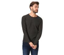 Pullover, Struktur-Mix, reine Baumwolle, meliert