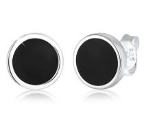 Ohrringe Basic Kreis Geo Emaille 5 Sterling