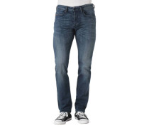 "Jeans ""Buster"" Regular Slim Fit Tapered Leg Waschung"