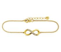 Armband 925/- Sterling Silber vergoldet Topas
