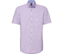 Business Hemd 1/2 Arm Button-Down Modern Fit bügelfrei /blau