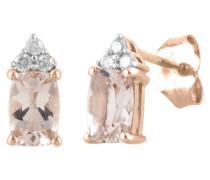 Ohrstecker Rosegold 585 mit Diamanten, zus. ca. 0,07 ct