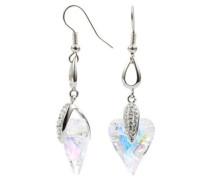 Silver Ohrhaken Herz mit Swarovski-Kristallen