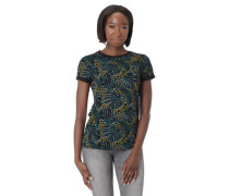 T-Shirt Ärmel-Umschlag reine Baumwolle tropischer Print