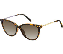 "Sonnenbrille ""FOS 3083/S 086 "", Havanna-Look, Cat-Eye,   mm,"