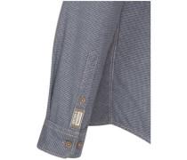Caual-Hemd regular fit Langarm Covered-Button-Down-Kragen Uni teel Core