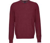 Cashmere-Pullover mit Rundhalsausschnitt bordeaux