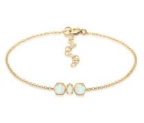 Armband Armkettchen Synthetischer Opal Trend 5 Silber